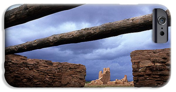 Sw New Mexico iPhone Cases - Salinas Pueblo Mission Abo Ruins 5 iPhone Case by Bob Christopher