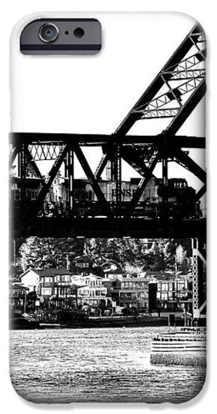 Salmon Bay Bridge iPhone Case by Benjamin Yeager