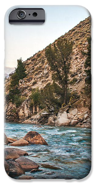 Salmon River In The Twilight iPhone Case by Robert Bales