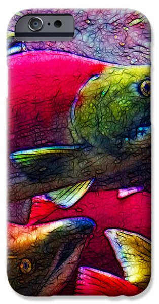 Salmon Run iPhone Case by Wingsdomain Art and Photography