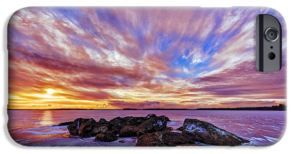 Red Rock iPhone Cases - Salmon Sunrise iPhone Case by Bill Caldwell -        ABeautifulSky Photography
