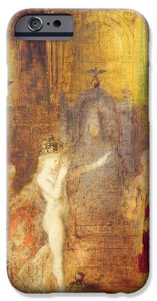 Bible iPhone Cases - Salome dancing before Herod iPhone Case by Gustave Moreau