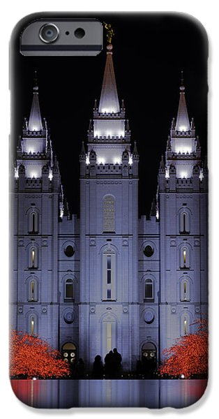 White House iPhone Cases - Salt Lake Christmas iPhone Case by Chad Dutson