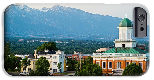 Capitol Hill iPhone Cases - Salt Lake City Council Hall, Capitol iPhone Case by Panoramic Images
