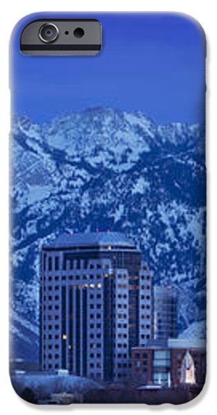 Salt Lake City Skyline iPhone Case by Brian Jannsen
