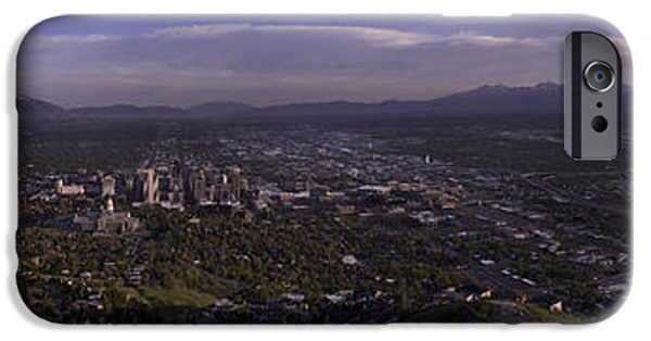 Capitol iPhone Cases - Salt Lake Valley iPhone Case by Chad Dutson