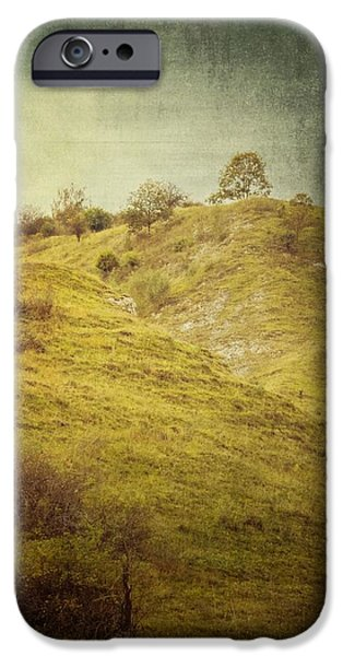 Mounds Digital iPhone Cases - Salt Meadow Mounds iPhone Case by Mandy Tabatt