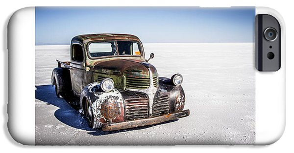 Dry Lake iPhone Cases - Salt Metal Pick Up Truck iPhone Case by Holly Martin