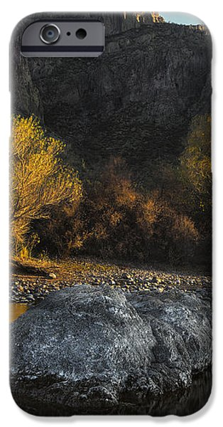 Salt River Fall Foliage iPhone Case by Dave Dilli