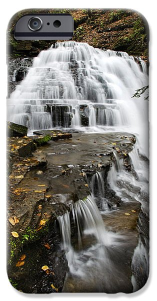 Franklin iPhone Cases - Salt Springs Waterfall iPhone Case by Christina Rollo