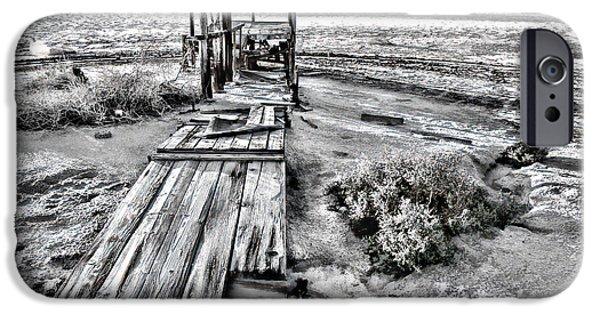 Miracle iPhone Cases - Salton Sea Dock Under Renovation by Diana Sainz iPhone Case by Diana Sainz