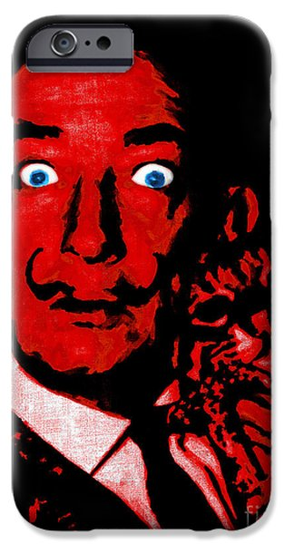 Salvador Dali and Friend 20130212v2 iPhone Case by Wingsdomain Art and Photography