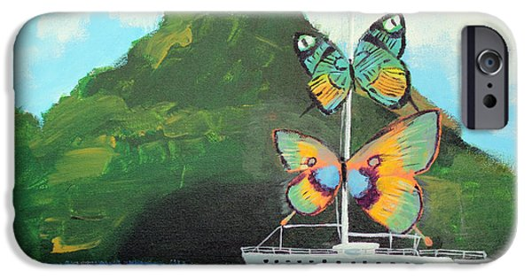 Dali Inspired iPhone Cases - Salvador Dali inspired Butterfly Catamaran iPhone Case by Ethan Altshuler