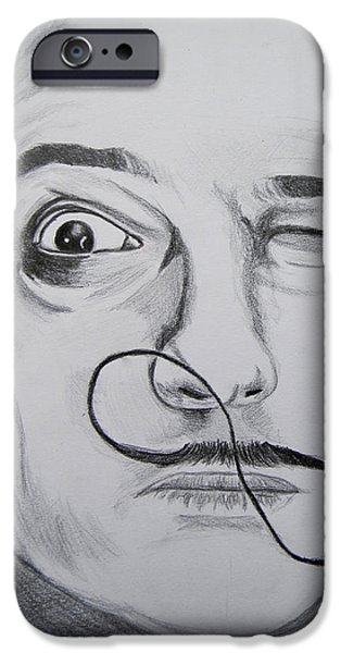 Painter Drawings iPhone Cases - Salvador Dali iPhone Case by Mountain Dreams