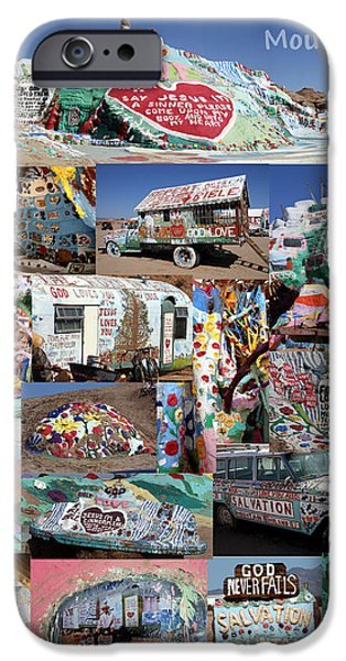 National Treasure iPhone Cases - Salvation Mountain iPhone Case by David Salter