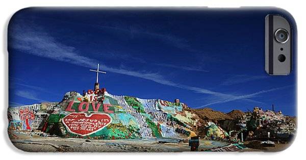 Installation Art Photographs iPhone Cases - Salvation Mountain iPhone Case by Laurie Search