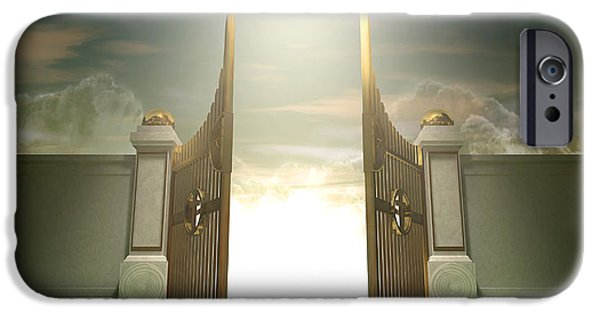 Radiating Light iPhone Cases - Salvations Open Gates iPhone Case by Allan Swart