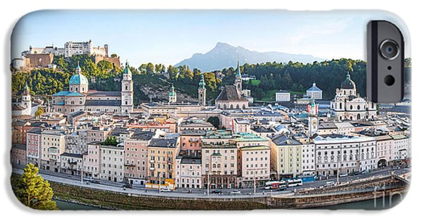 Alps iPhone Cases - Salzburg iPhone Case by JR Photography