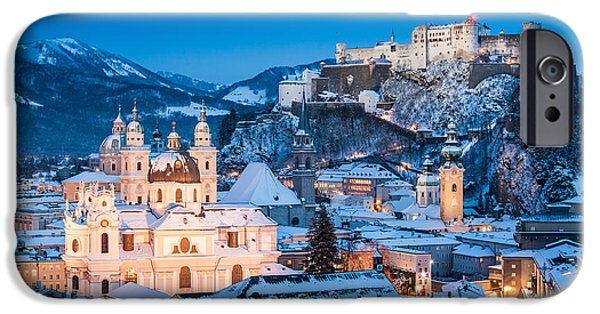 Salzburg iPhone Cases - Salzburg Winter Romance iPhone Case by JR Photography