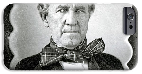 Patriots iPhone Cases - Sam Houston, American Politician iPhone Case by Photo Researchers