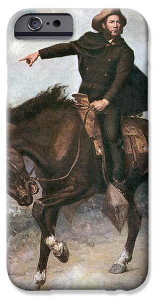 Patriots iPhone Cases - Sam Houston At Battle Of San Jacinto iPhone Case by Photo Researchers