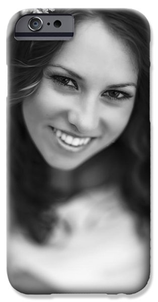 Youthful Photographs iPhone Cases - Samantha iPhone Case by Rick Berk