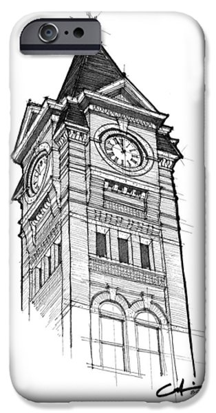 Toomers Corner iPhone Cases - Samford Hall iPhone Case by Calvin Durham