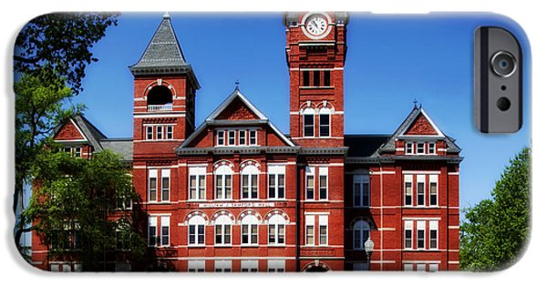 Auburn iPhone Cases - Samford Hall on the Campus of Auburn University iPhone Case by Mountain Dreams