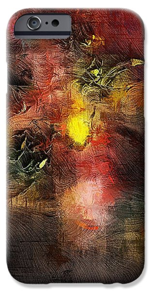 Abstract Digital Digital Art iPhone Cases - Samhain iPhone Case by David Lane