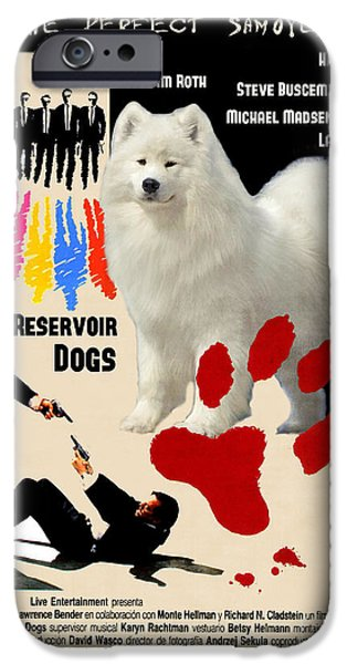 Reservoir Dogs iPhone Cases - Samoyed Art Canvas Print - Reservoir Dogs Movie Poster iPhone Case by Sandra Sij