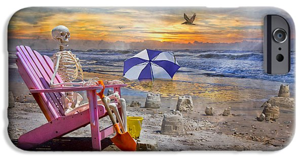Sand Castles iPhone Cases - Sams  Sandcastles iPhone Case by Betsy A  Cutler