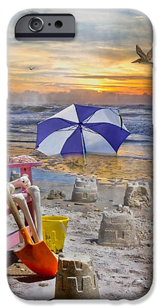 Sam's  Sandcastles iPhone Case by Betsy A  Cutler