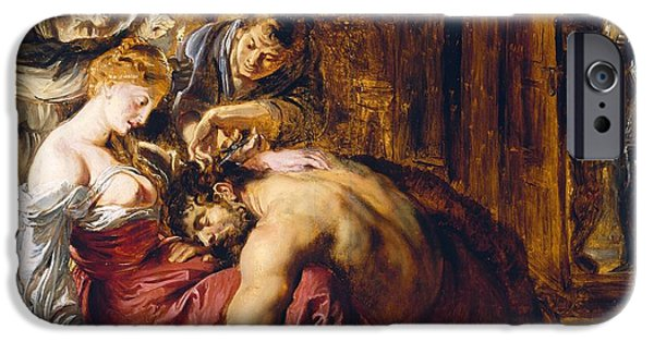 Deceit iPhone Cases - Samson And Delilah, C.1609 Oil On Panel iPhone Case by Peter Paul Rubens
