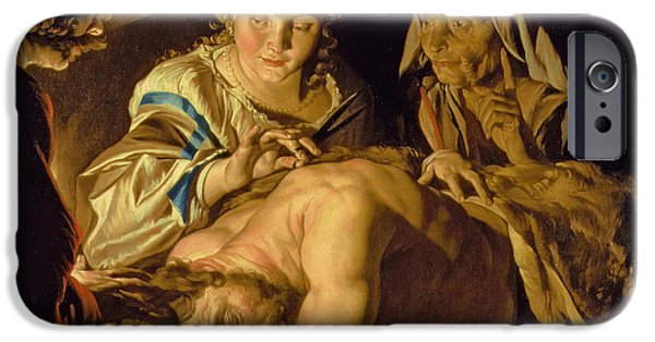 Old And New iPhone Cases - Samson and Delilah iPhone Case by Matthias Stomer