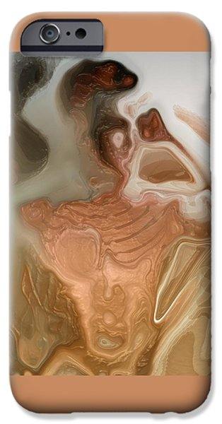 Abstract Digital Art iPhone Cases - Anorexy By Quim Abella iPhone Case by Joaquin Abella