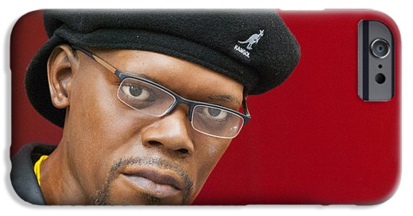 Model iPhone Cases - Samuel L. Jackson iPhone Case by Juli Scalzi