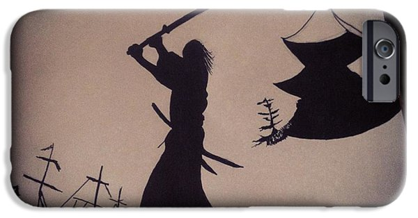 Mounds Mixed Media iPhone Cases - Samurai  iPhone Case by Chris  McCabe