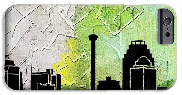 Chicago Paintings iPhone Cases - San Antonio 002 B iPhone Case by Corporate Art Task Force