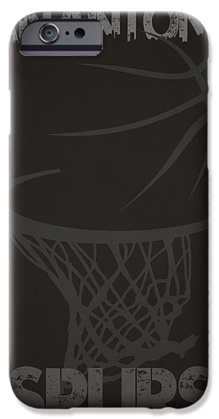 Dunk iPhone Cases - San Antonio Spurs Hoop iPhone Case by Joe Hamilton