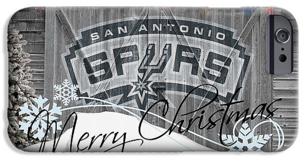 Dunk iPhone Cases - San Antonio Spurs iPhone Case by Joe Hamilton