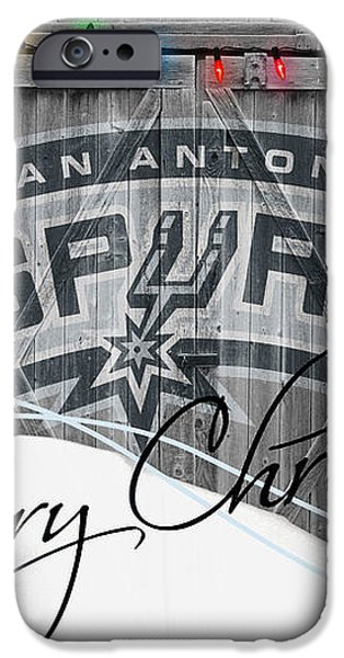 SAN ANTONIO SPURS iPhone Case by Joe Hamilton