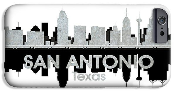 Concrete Jungle iPhone Cases - San Antonio TX 4 iPhone Case by Angelina Vick