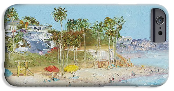 Clemente Paintings iPhone Cases - San Clemente Beach iPhone Case by Jan Matson
