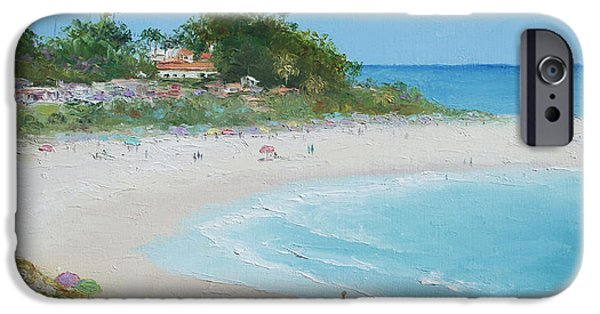 Clemente Paintings iPhone Cases - San Clemente Beach Panorama iPhone Case by Jan Matson