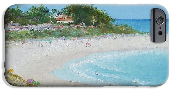 House Art iPhone Cases - San Clemente Beach Panorama iPhone Case by Jan Matson