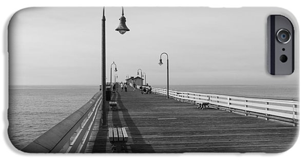 Clemente iPhone Cases - San Clemente Pier iPhone Case by Ana V  Ramirez