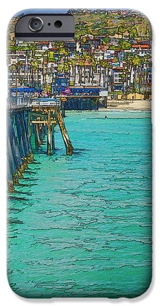 San Clemente Pier iPhone Case by Joan Carroll