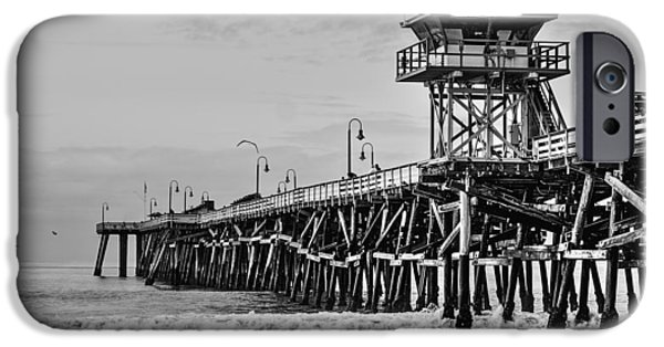 Village By The Sea iPhone Cases - San Clemente Pier iPhone Case by Richard Cheski
