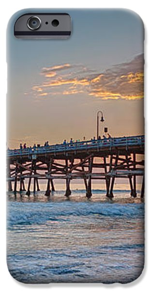 San Clemente Pier Sunset iPhone Case by Scott Campbell