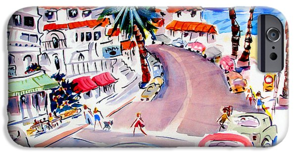 Clemente Paintings iPhone Cases - San Clemente Strip iPhone Case by John Dunn